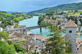 Rhine river in Schaffhausen, Switzerland — Stock Photo