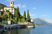 Gravedonna town at the famous Italian lake Como — Stock Photo