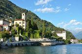 Gravedonna town at the famous Italian lake Como — Stock Photo
