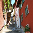 Narrow street of Varenna town at the lake Como, Italy — Stock Photo #20899851