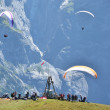 Stock Photo: Paragliding site. Jungfrau region, Switzerland
