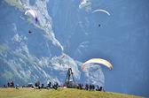 Paragliding site. Jungfrau region, Switzerland — Stock Photo