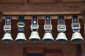 Traditional Swiss cowbells in Jungfrau region — Stok fotoğraf