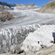 Stock Photo: Melting Rhone glacier, Switzerland. View from FurkPass