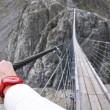 Trift Bridge, the longest 170m pedestrian-only suspension bridge — Stock Photo