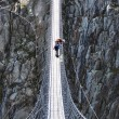 Trift Bridge, the longest 170m pedestrian-only suspension bridge — Stock Photo #20921143