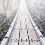 Trift Bridge, the longest 170m pedestrian-only suspension bridge — Stock Photo #20921145