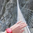 Trift Bridge, the longest 170m pedestrian-only suspension bridge — Stock Photo #20921177