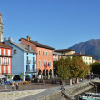 Ascona, famous Swiss resort at Maggiore lake — Stock Photo