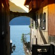Romantic view to the famous Italian lake Como from Varenna town — Stock Photo #20923955