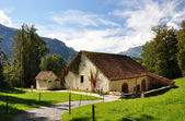 Traditional Swiss country house — Stock Photo