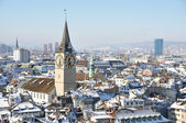 Winter view of Zurich — Stock Photo