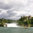 Rhinefall in Schaffhausen, Switzerland, the largest Waterfall in — Stock Photo