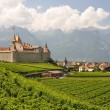 Chateau d'Aigle among vineyards. Switzerland — Stock Photo #20937299