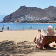 Stock Photo: Beach scene. Playde lTeresitas. Tenerife, Canaries