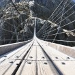 Stock Photo: 170m hanging Trift bridge, Switzerland