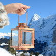 Постер, плакат: Lantern in the hand Murren Switzerland