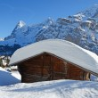 Постер, плакат: Murren famous Swiss skiing resort