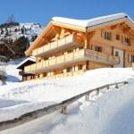 Muerren, famous Swiss skiing resort — Stock Photo #20939161