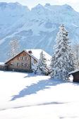 Braunwald, famous Swiss skiing resort — Stock Photo