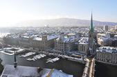 Winter view of Zurich, Switzerland — Stock Photo