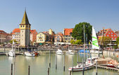 Port of Lindau island, Germany — Stock Photo