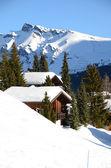 Muerren, ośrodek narciarski słynnej szwajcarskiej — Zdjęcie stockowe