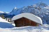 Murren, famous Swiss skiing resort — Stock Photo