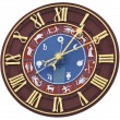 Zodiacal clock — Stock Photo