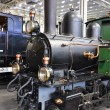 Old train in museum of transport in Lucerne, Switzerland - Stock Photo