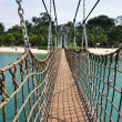 Hanging bridge at Sentosa island in Singapore — Stock Photo
