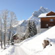 Braunwald, famous Swiss skiing resort — Stock fotografie