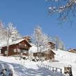 Braunwald, famous Swiss skiing resort - 图库照片