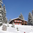 Stock Photo: Holiday cottage in Braunwald, famous Swiss skiing resort