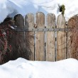 Stock Photo: Garden-gate buried under snow