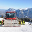 Snowplow in Pizol, famous Swiss skiing resort  — Photo