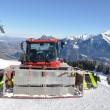 Snowplow in Pizol, famous Swiss skiing resort — Stock fotografie