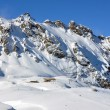 Stock Photo: Pizol, famous Swiss skiing resort
