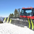Snowplow in Pizol, famous Swiss skiing resort — Stock Photo #21017199