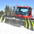 Foto Stock: Snowplow in Pizol, famous Swiss skiing resort