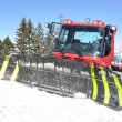 Stockfoto: Snowplow in Pizol, famous Swiss skiing resort