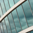 Glass wall of an office building — Stock Photo