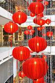 εμπορικό κέντρο, διακοσμημένο με φανάρια για την κινέζικη πρωτοχρονιά — Φωτογραφία Αρχείου