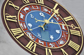 Ancient zodiacal clock — Stock Photo