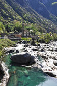 Lavertezzo village in Verzasca valley, Swtzerland — Stock Photo