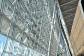 Interior of a modern airport — Stock Photo