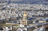 Aerial view of Les Invalides in Paris, France — Stock Photo