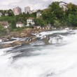 Stock Photo: Rhinefall in Schaffhausen, Switzerland, largest Waterfall in