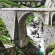 Devil's bridge at St. Gotthard pass, Switzerland - Stock Photo