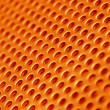 Red hot metal mesh — Stock Photo